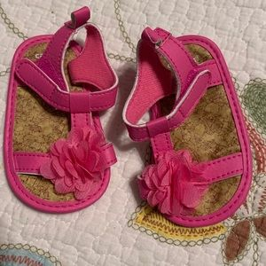 Carter's hot pink sandals for baby girl